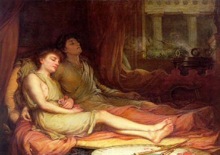 Waterhouse, John William: Sleep and his Half Brother Death. Fine Art Print/Poster. Sizes: A4/A3/A2/A1 (001403)